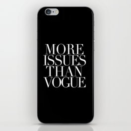VOGUE {ISSUES} iPhone Skin