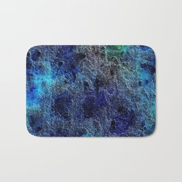Colorful Cool Rich Jewel Tones Blue Abstract Bath Mat