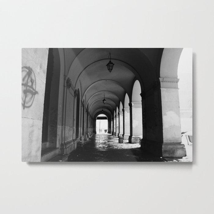 Portici In San Giustino Square Metal Print