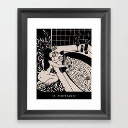 14. TEMPERANCE Framed Art Print
