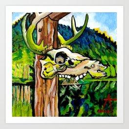 Lagoon Skull Art Print