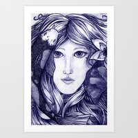 Lay Me  Down To Rest, Under Water's Calming Breath  Art Print