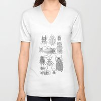bugs V-neck T-shirts featuring Bugs by Jillian Leigh