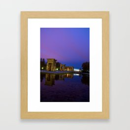 Templo de Debod, Madrid Framed Art Print
