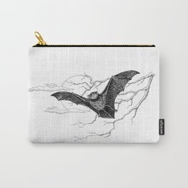 """""""Night Flight"""" Bat Halloween Pen and Ink Study Carry-All Pouch"""
