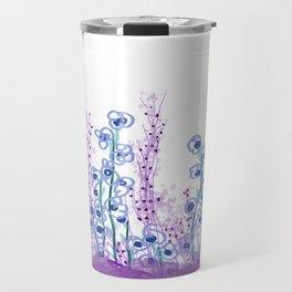 Astract Water Flowers Travel Mug