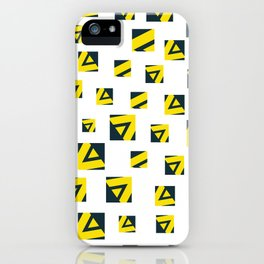 Geometric art pattern 6 iPhone Case