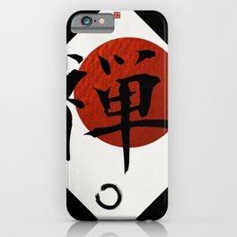 Kanji Zen with Enso Circle iPhone Case