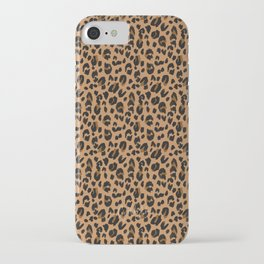 Leopard - Black Brown on Tan iPhone Case