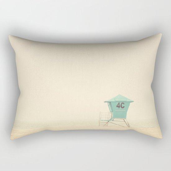 the sound of outer ocean on a beach ... Rectangular Pillow