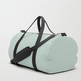 Hint Of Mint Light Pastel Green Blue Solid Color Pairs To Sherwin Williams Waterscape SW 6470 Duffle Bag