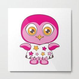 An owl in a dress in the stars. Metal Print
