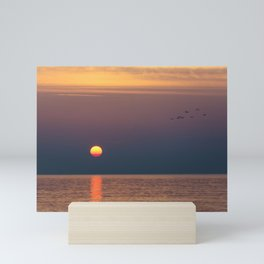 Sunrise Over the Sea Mini Art Print