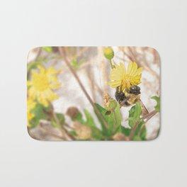 Bee on Yellow Flower Bath Mat