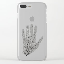 Hand Branches - Black Clear iPhone Case