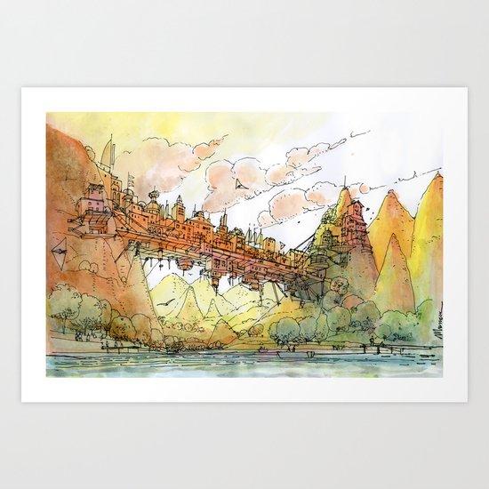 La Citta' Ponte Art Print