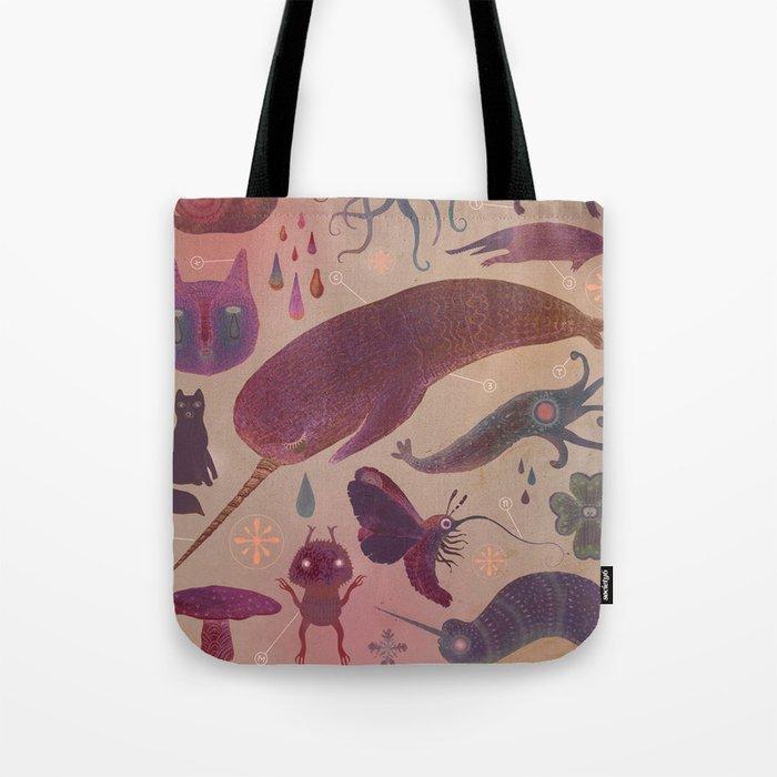 Purple Northern Dream Tote Bag