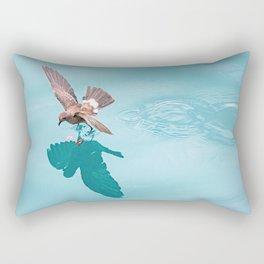 Storm petrel dancing on the ocean Rectangular Pillow