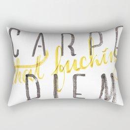 Carpe (that fucking) Diem (B&Y version) Rectangular Pillow