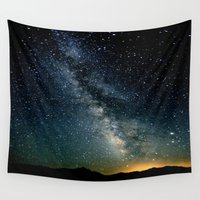 milky way Wall Tapestries featuring The Milky Way by 2sweet4words Designs