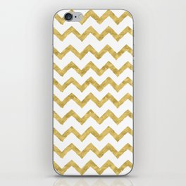 Chevron Gold And White iPhone Skin