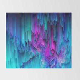 Neon Drifting - Pixel Art Throw Blanket