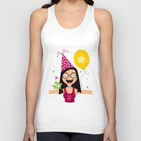 birthday Tank Tops featuring Birthday by Zurecia