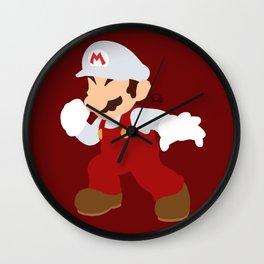 Mario(Smash)Fire Wall Clock