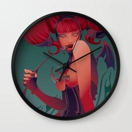 DECADENTLY HORNY Wall Clock