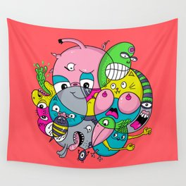 Scribble Ball Wall Tapestry