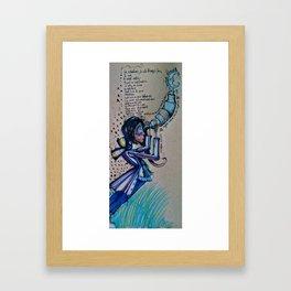Astronomy Lady Framed Art Print