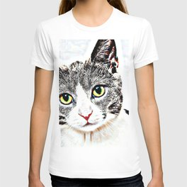 Purrfect (Perfect) Kitty Drawing T-shirt
