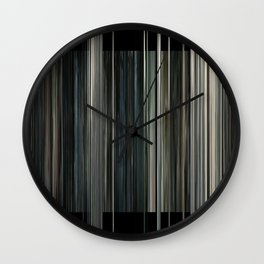 Interstellar Movie Barcode Wall Clock