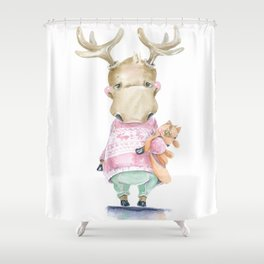ELK and Fox Shower Curtain