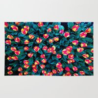 tulips Area & Throw Rugs featuring Tulips by Madison Webb