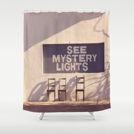 See Mystery Lights - Marfa, Texas Shower Curtain