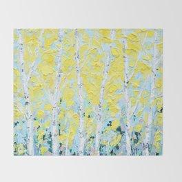 New England Paper Birch Throw Blanket