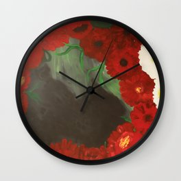 Sleeping In The Garden Wall Clock