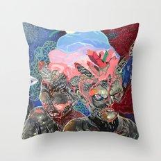 mine is bigger Throw Pillow