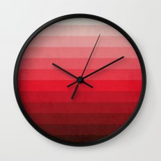Red Grunge Wall Clock