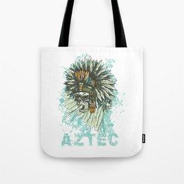 Aztec Chief Headdress Skull Tote Bag