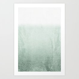 FADING GREEN EUCALYPTUS Art Print