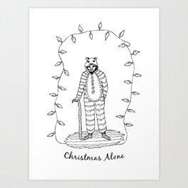 Christmas Alone - Old Man Art Print
