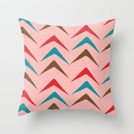 Mid Century Pink Arrow Pattern #homedecor Throw Pillow