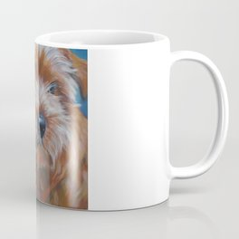 Norfolk Terrier Dog Portrait Art from an original painting by L.A.Shepard Coffee Mug