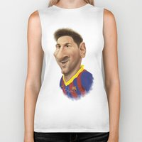messi Biker Tanks featuring Messi - Barcelona by Sant Toscanni
