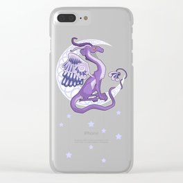 Vendel Dragon - the moon Clear iPhone Case