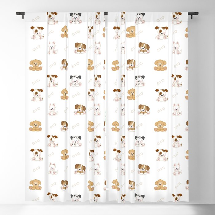 Puppy Dog Baby Nursery Wall Art Blackout Curtain By Decampstudios