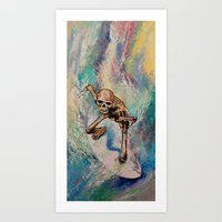 surfer Art Prints featuring Surfer by Michael Creese