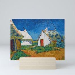 Three white cottages in Saintes-Maries Mini Art Print